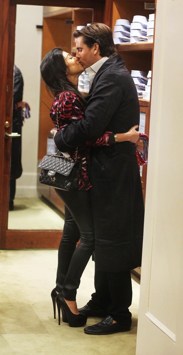 Kourtney Kardashian shopping at Bergdorf Goodman