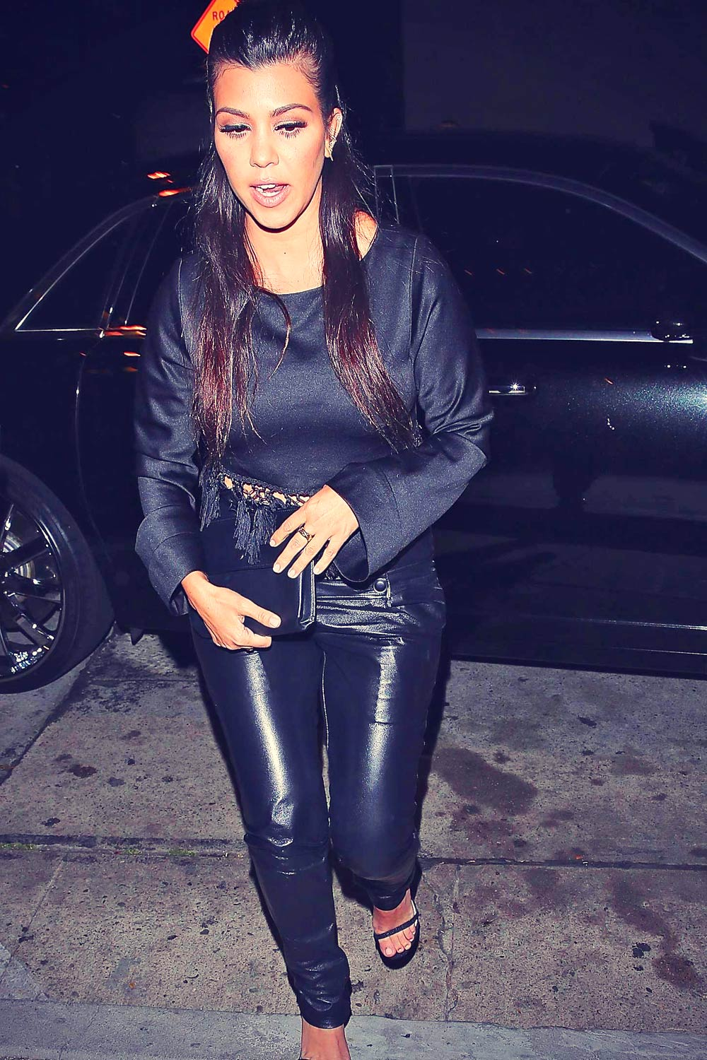 Kourtney Kardashian dinner at Craig's Restaurant