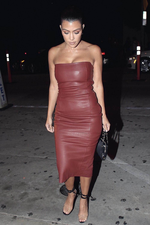 Kourtney Kardashian leaves Catch Restaurant