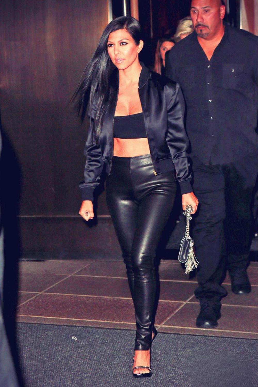 Kourtney Kardashian leaves Galore cover party