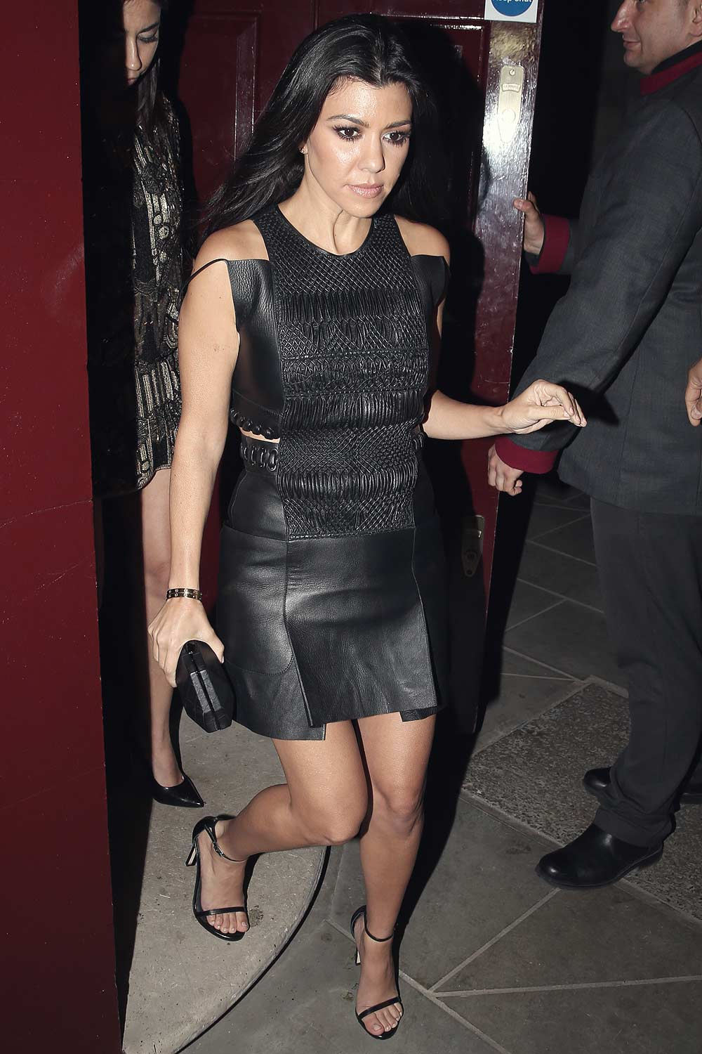 Kourtney Kardashian Out And About In London Leather