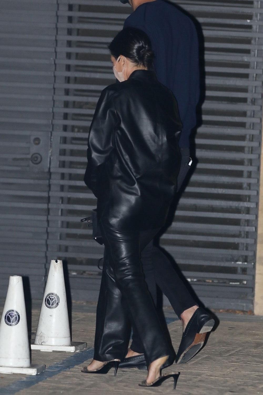 Kourtney Kardashian seen exiting Nobu after having dinner