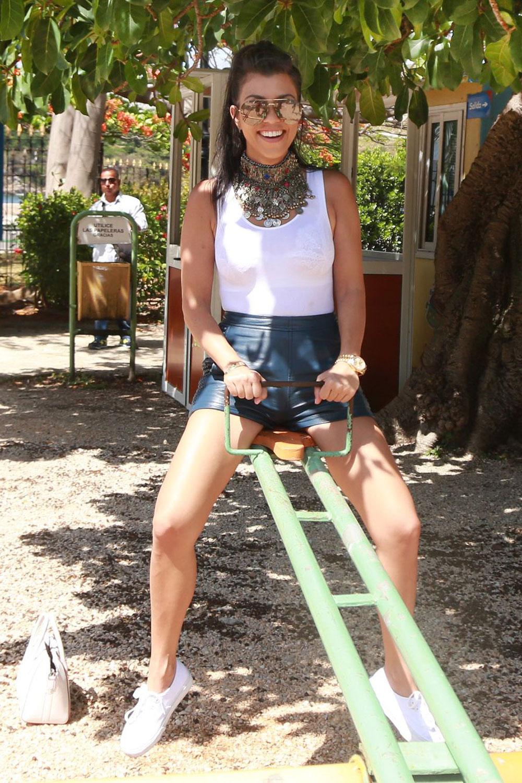 Kourtney Kardashian visit a park in Havana