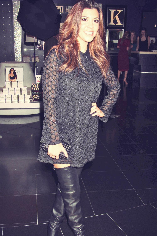 Kourtney Kardashian visits Kardashian Khaos