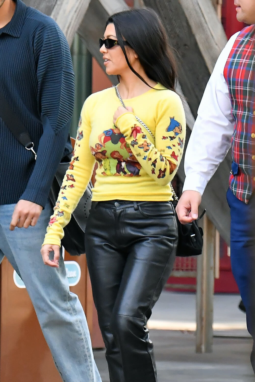 Kourtney Kardashian attends Disneyland