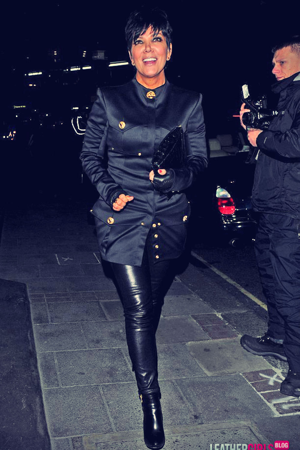 Kris Jenner and Rob Kardashian Out in London