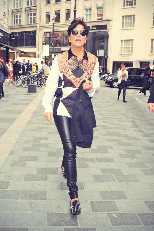 Kris Jenner in Browns Oxford Street