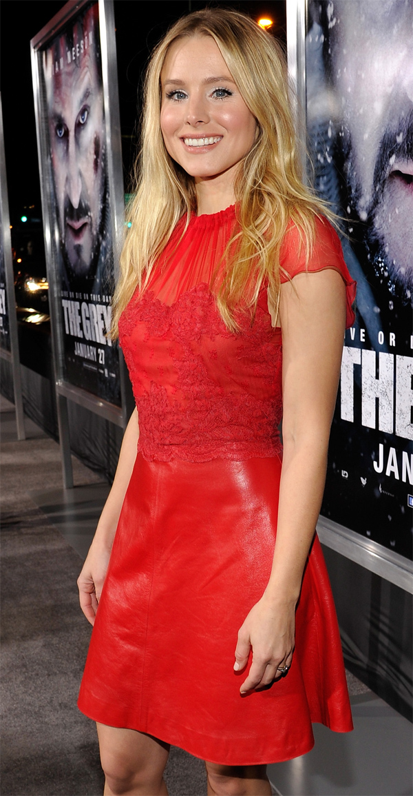 Kristen Bell at The Grey Premiere in LA