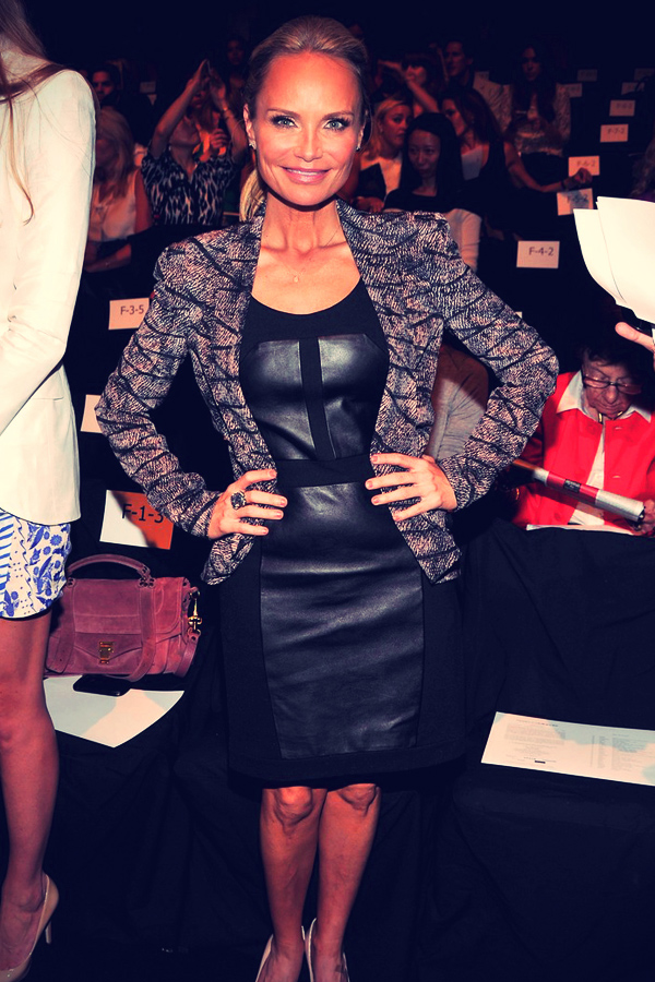 Kristin Chenoweth at Mercedes-Benz Fashion Week