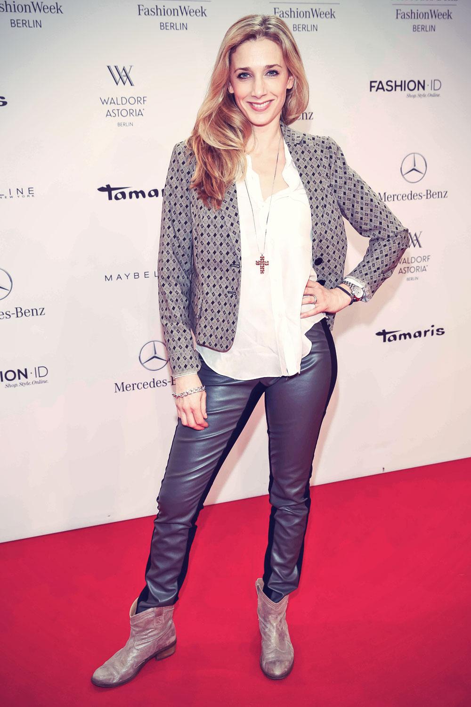 Kristin Meyer attends Mercedes-Benz Fashion Week