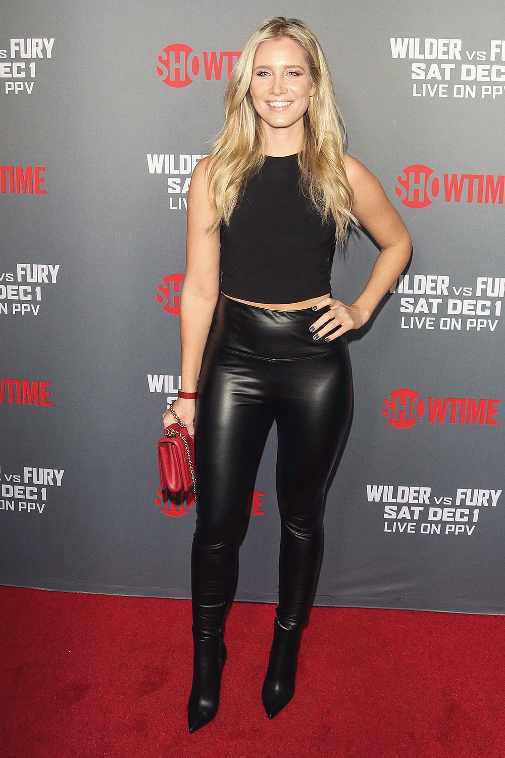 Kristine Leahy attends Heavyweight Championship of the World Wilder