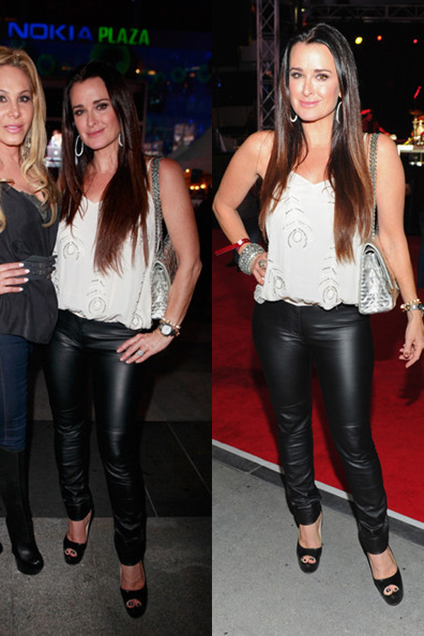 Kyle Richards arrives at the premiere of Los Angeles Food & Wine in LA