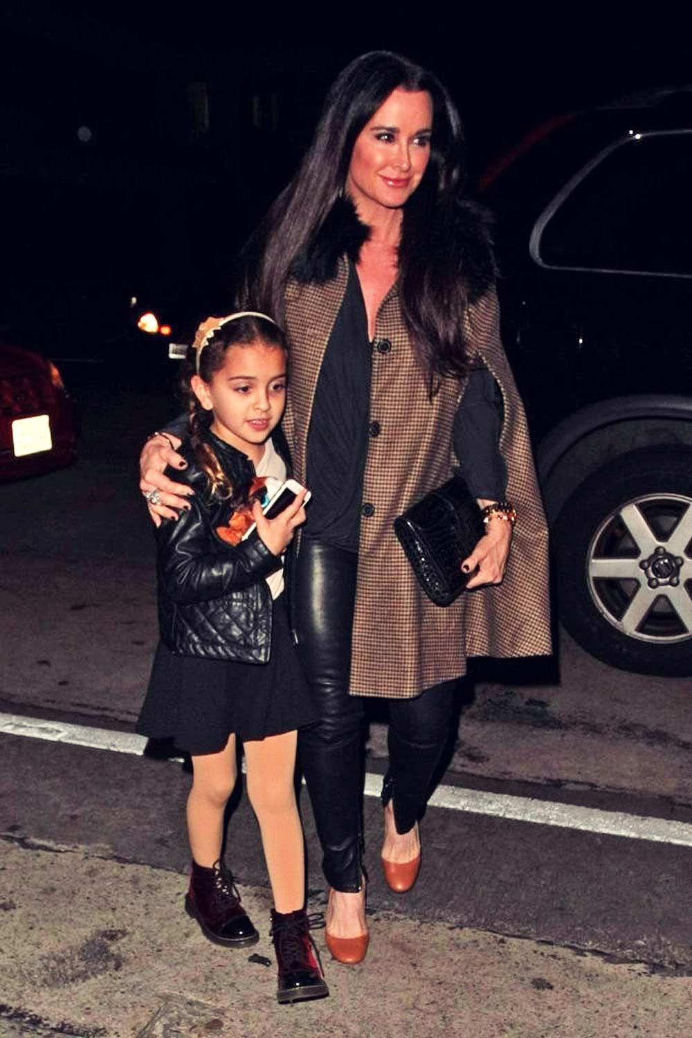 Kyle Richards celebrating her 47th birthday at Craig's