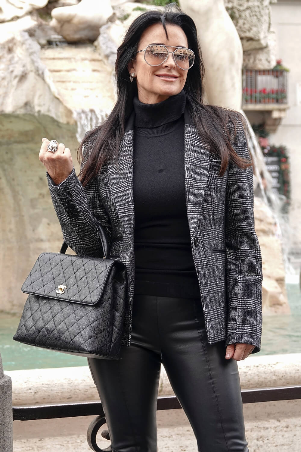 Kyle Richards at Piazza Navona