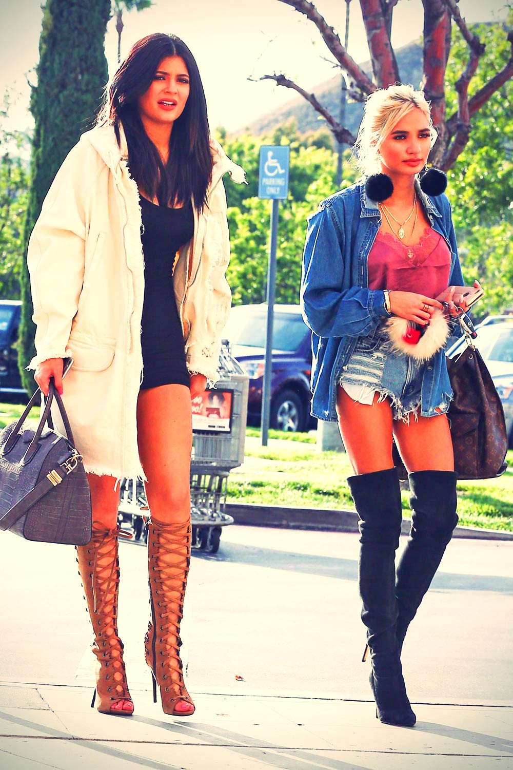 Kylie Jenner And Pia Mia Perez Out In Calabasas Leather