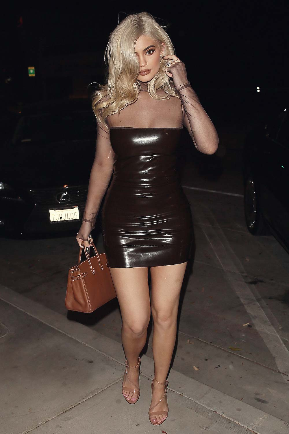 Kylie Jenner at Catch restaurant