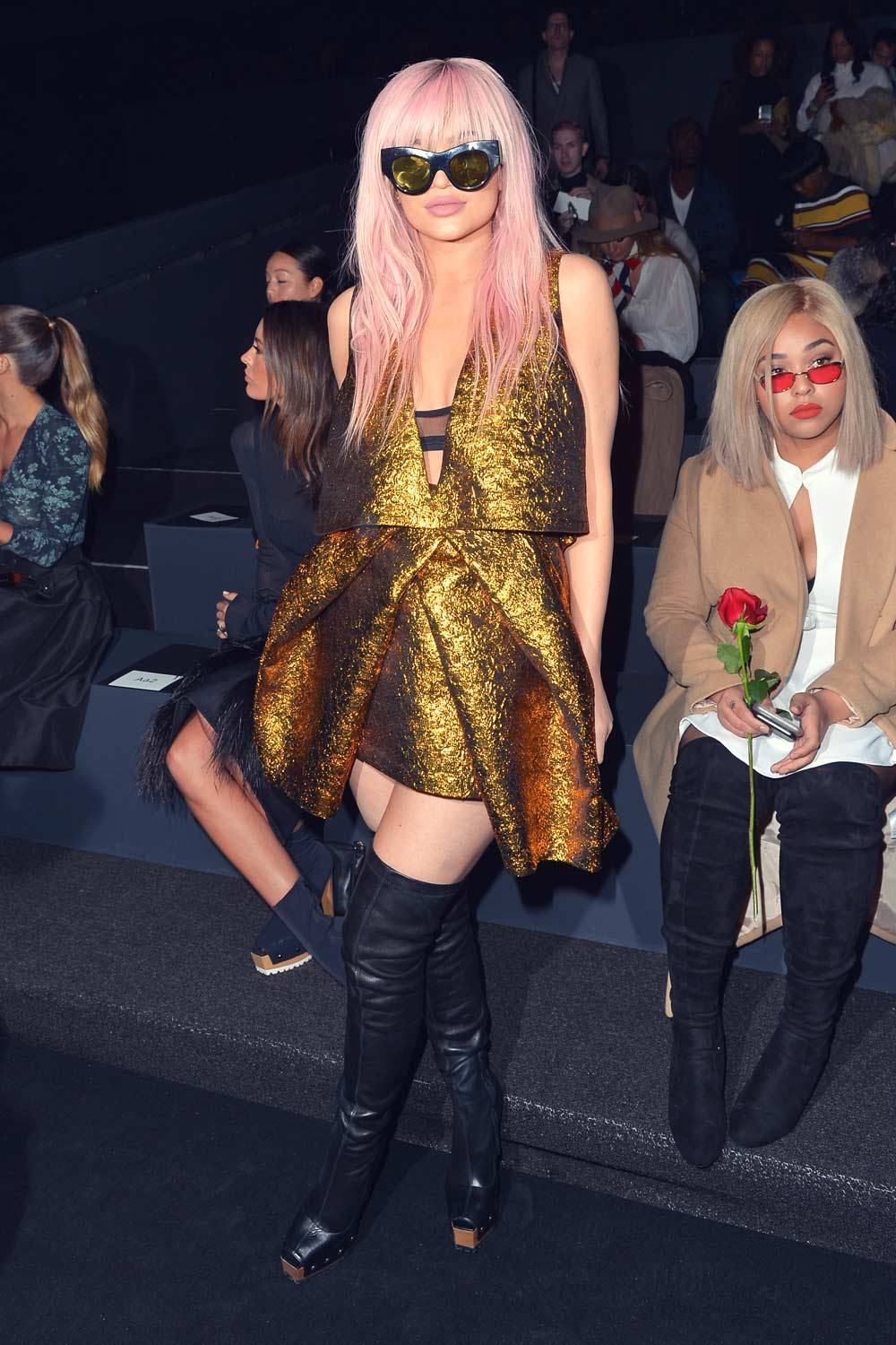 Kylie Jenner front row at the Vera Wang Fashion Show