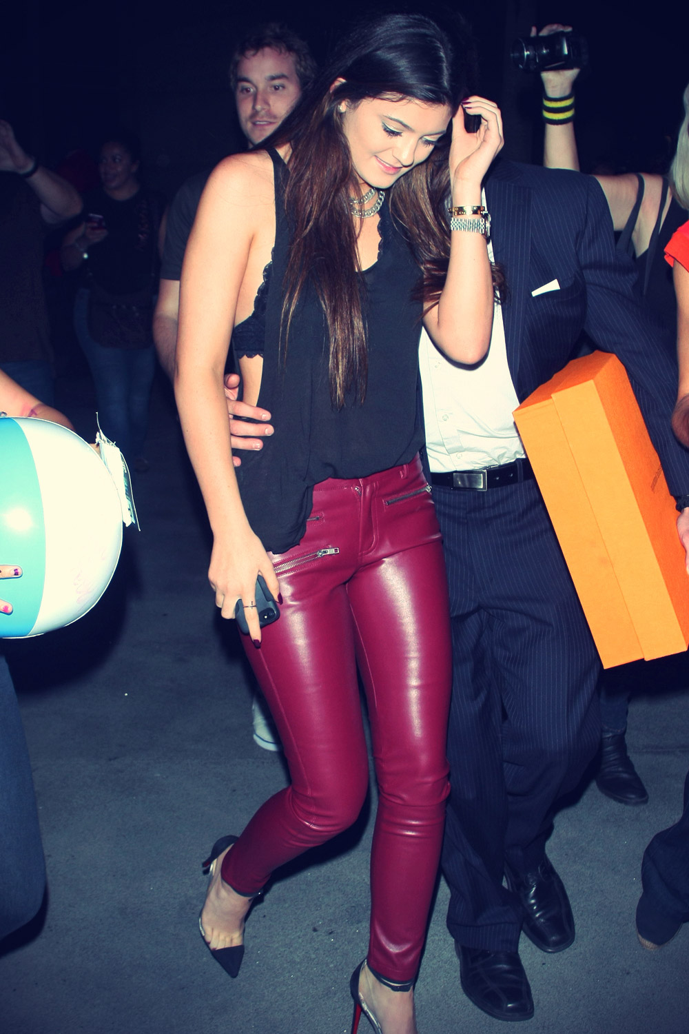 Kylie Jenner leaving Justin Bieber show at The Staples Center