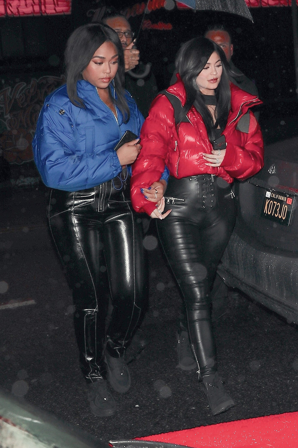Kylie Jenner leaving Tristan Thompson's birthday celebration