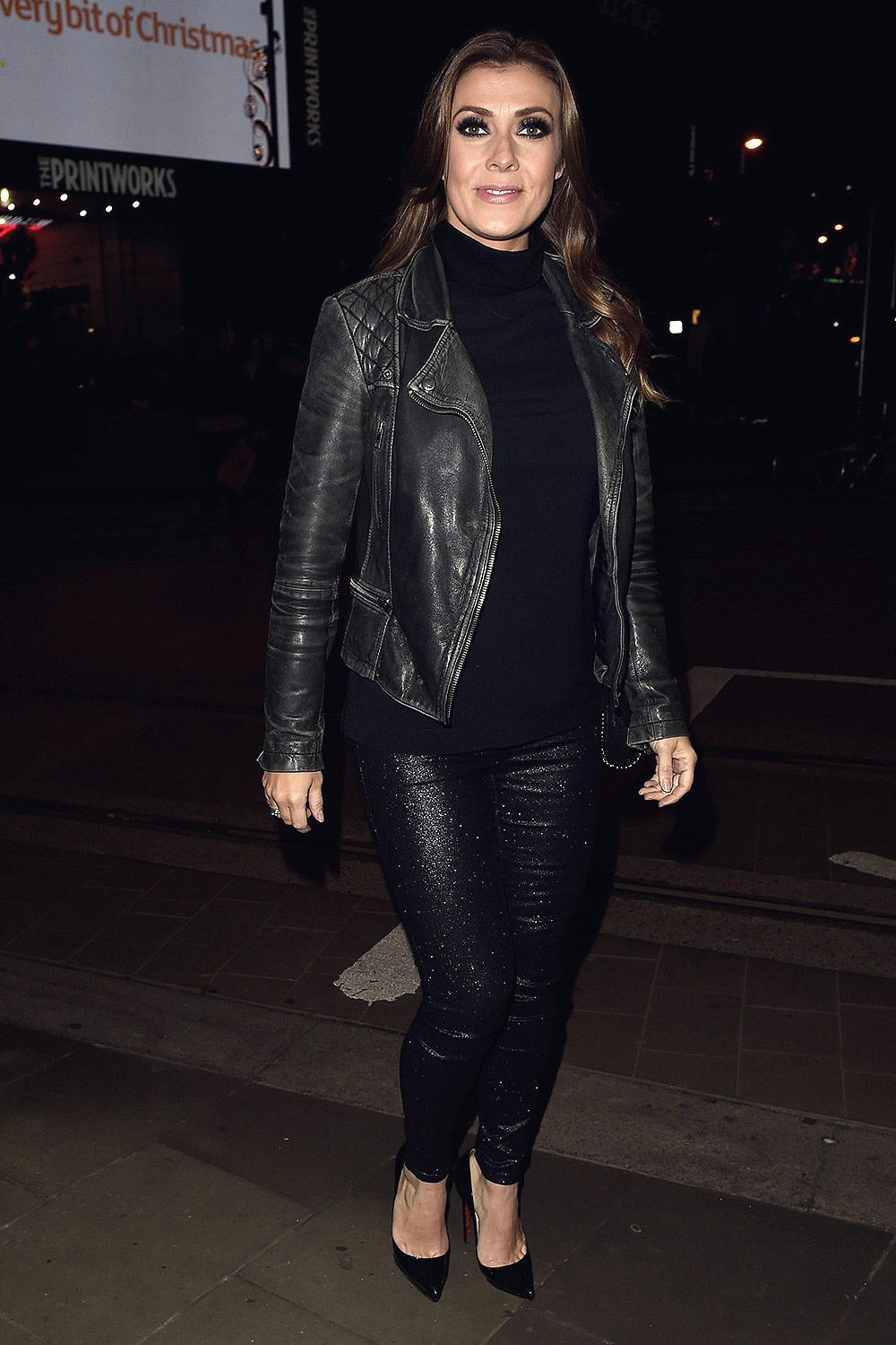 Kym Marsh spotted at Ginos Restaurant
