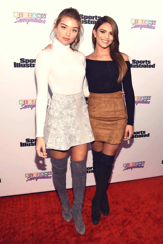 Kyra Santoro & Daniela Lopez Osorio attend Sports Illustrated and KIZZANG Bracket Challenge Party