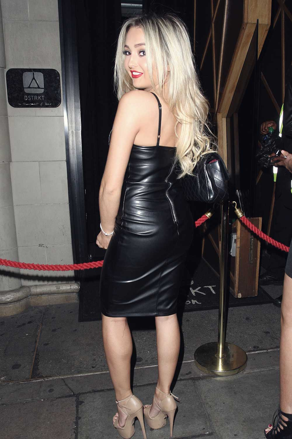 Lacey Fuller night out in London