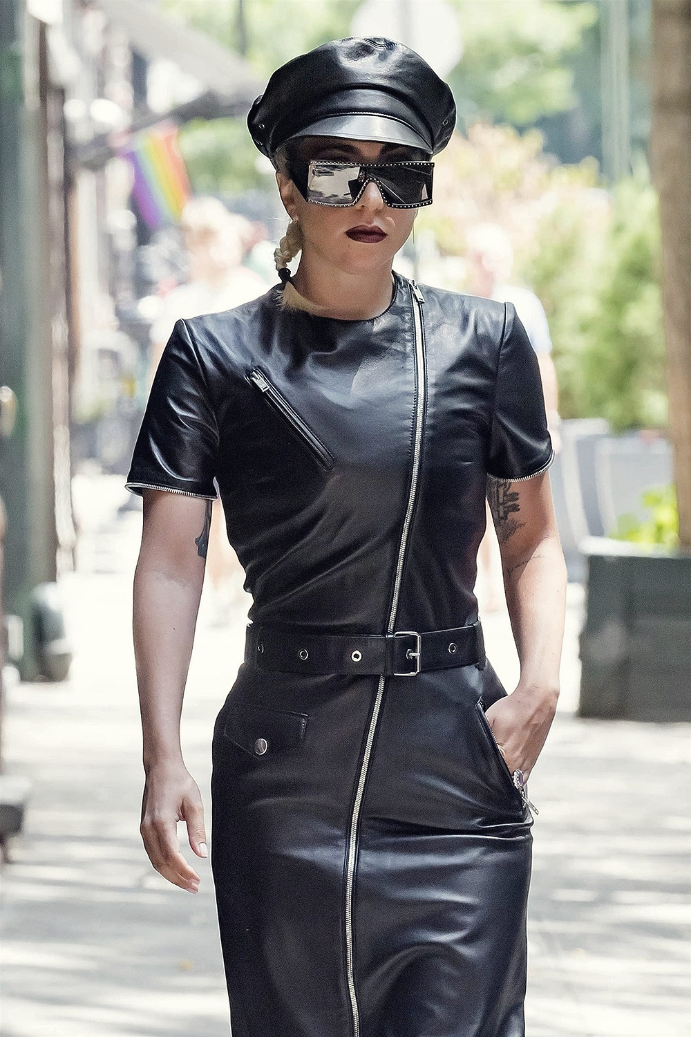 Lady Gaga heading to a studio