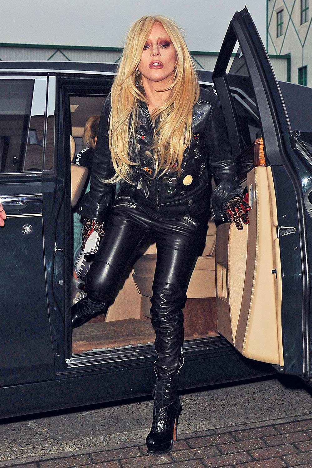 Lady Gaga Out And About In London Leather Celebrities