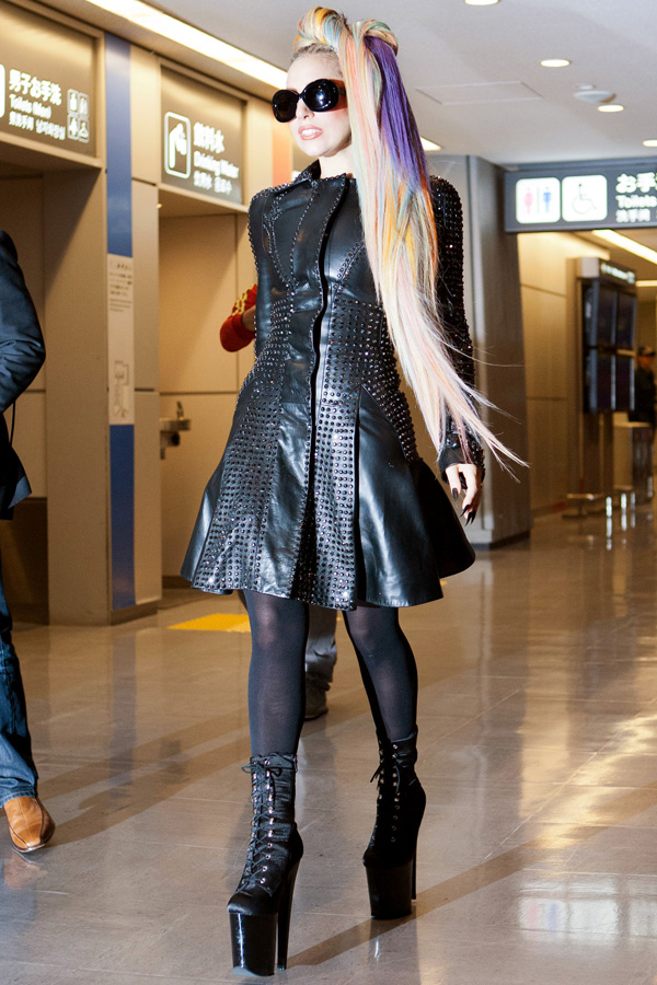 Lady Gaga arriving at Narita International Airport