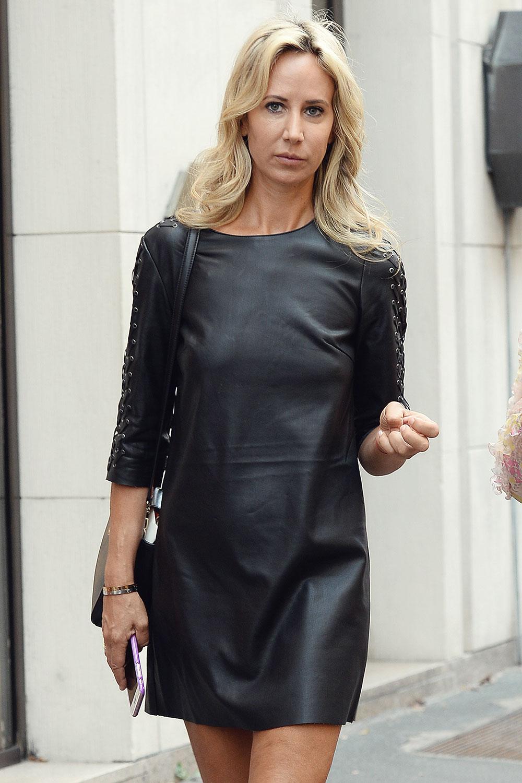 Lady Victoria Hervey arrives at Giorgio Armani Fashion Show