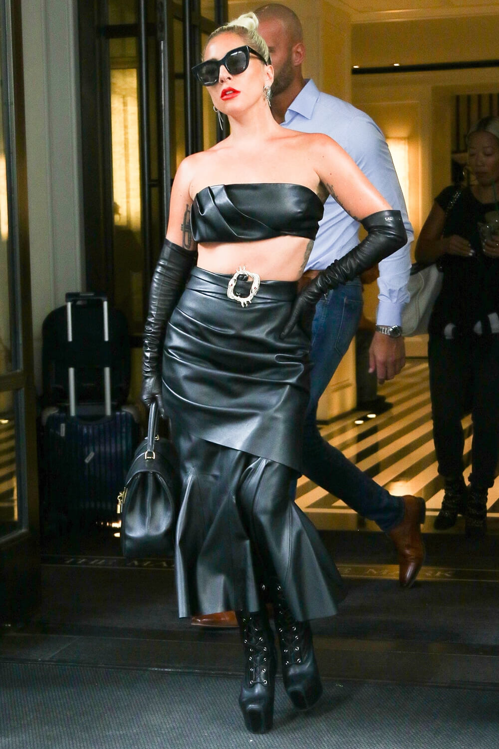 Lady Gaga leaving The Mark Hotel