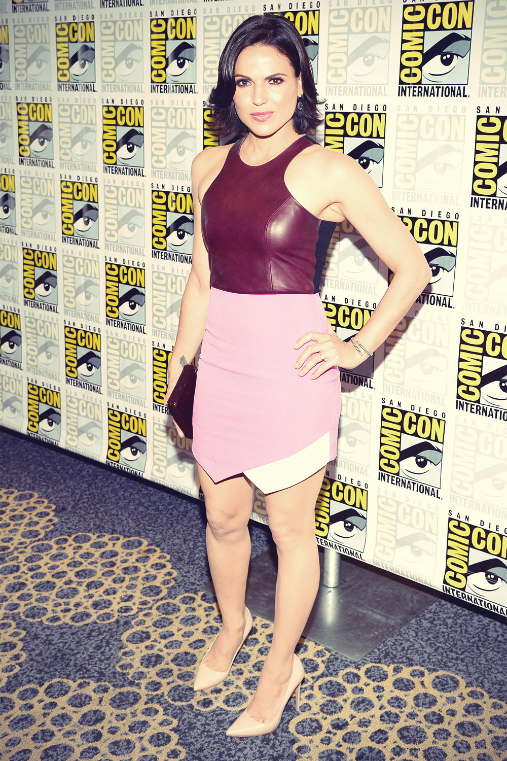 Lana Parrilla attends Once Upon A Time press line during Comic-Con