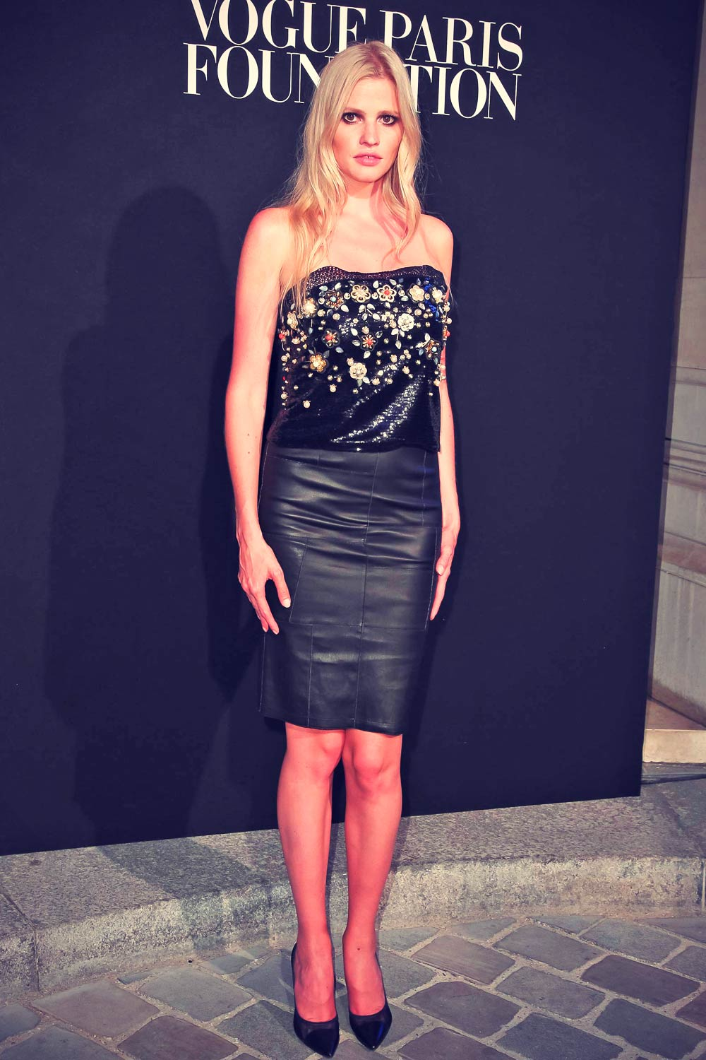 Lara Stone attends Vogue Paris Foundation Gala