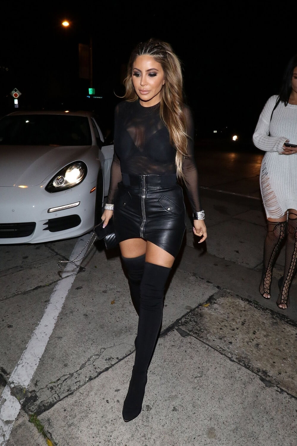Larsa Pippen night out at Craig's