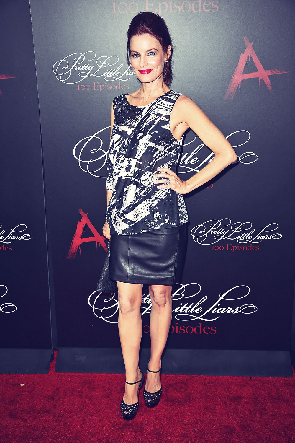Laura Leighton attends Pretty Little Liars 100th episode celebration