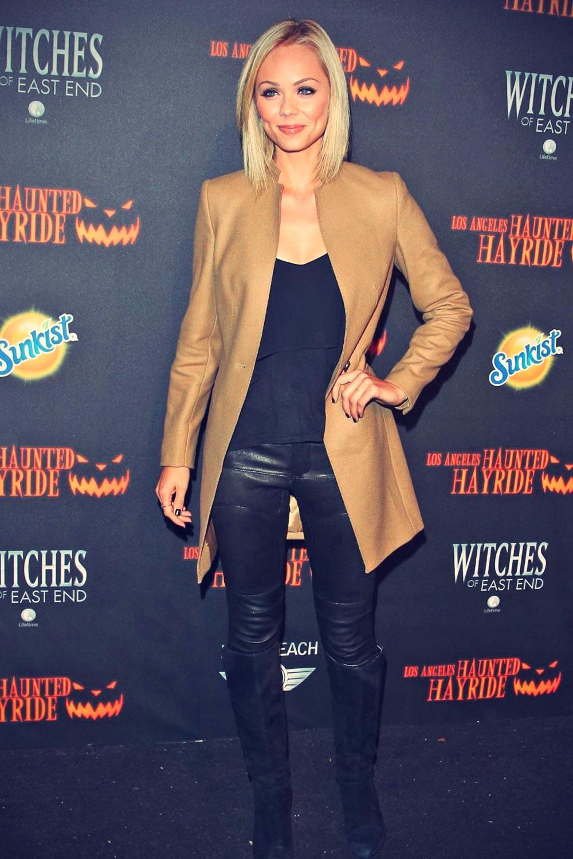Laura Vandervoort attends 5th Annual Los Angeles Haunted Hayride
