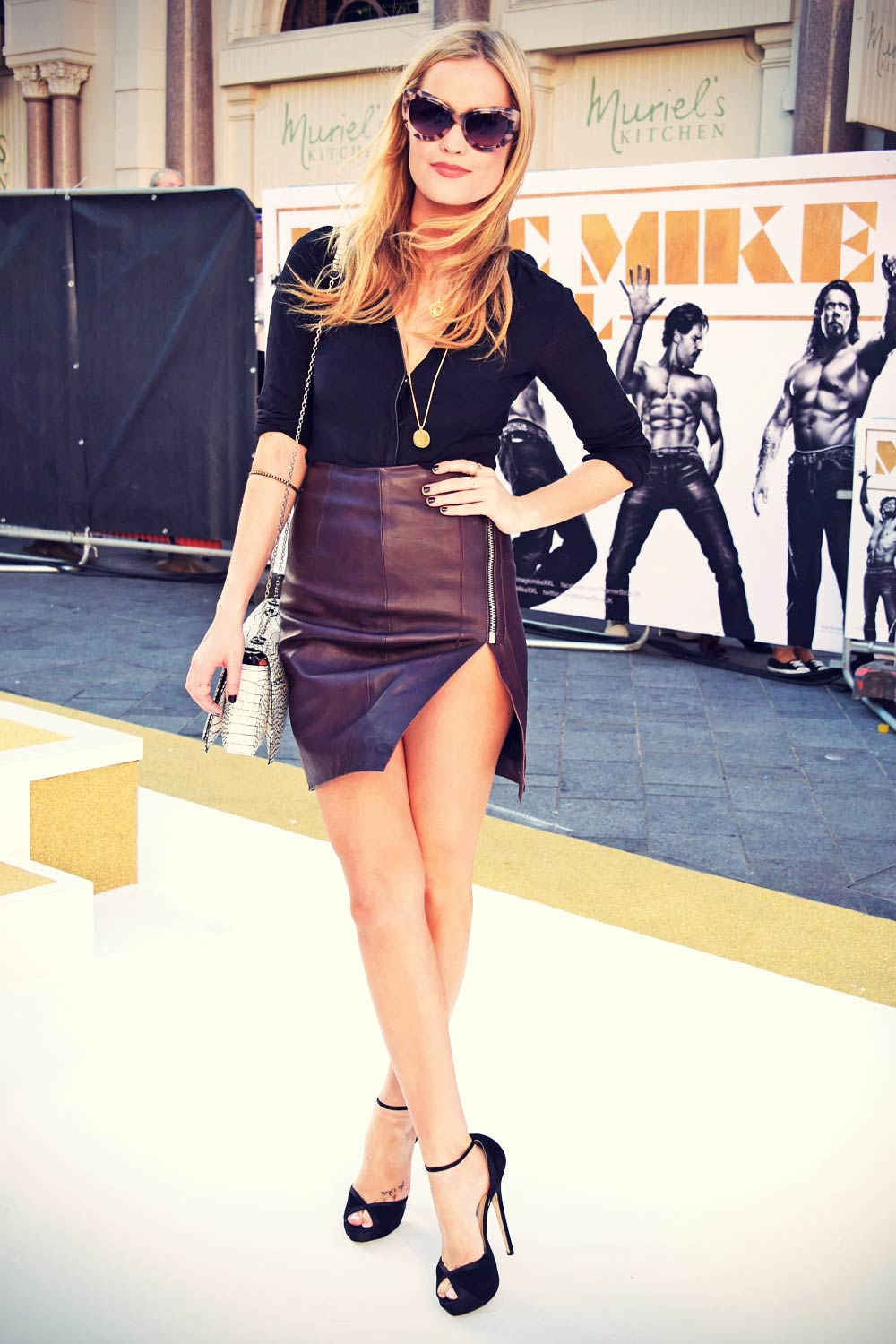 Laura Whitmore attends Magic Mike XXL premiere