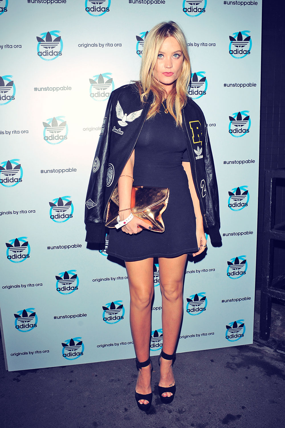 Laura Whitmore attends adidas originals by Rita Ora launch