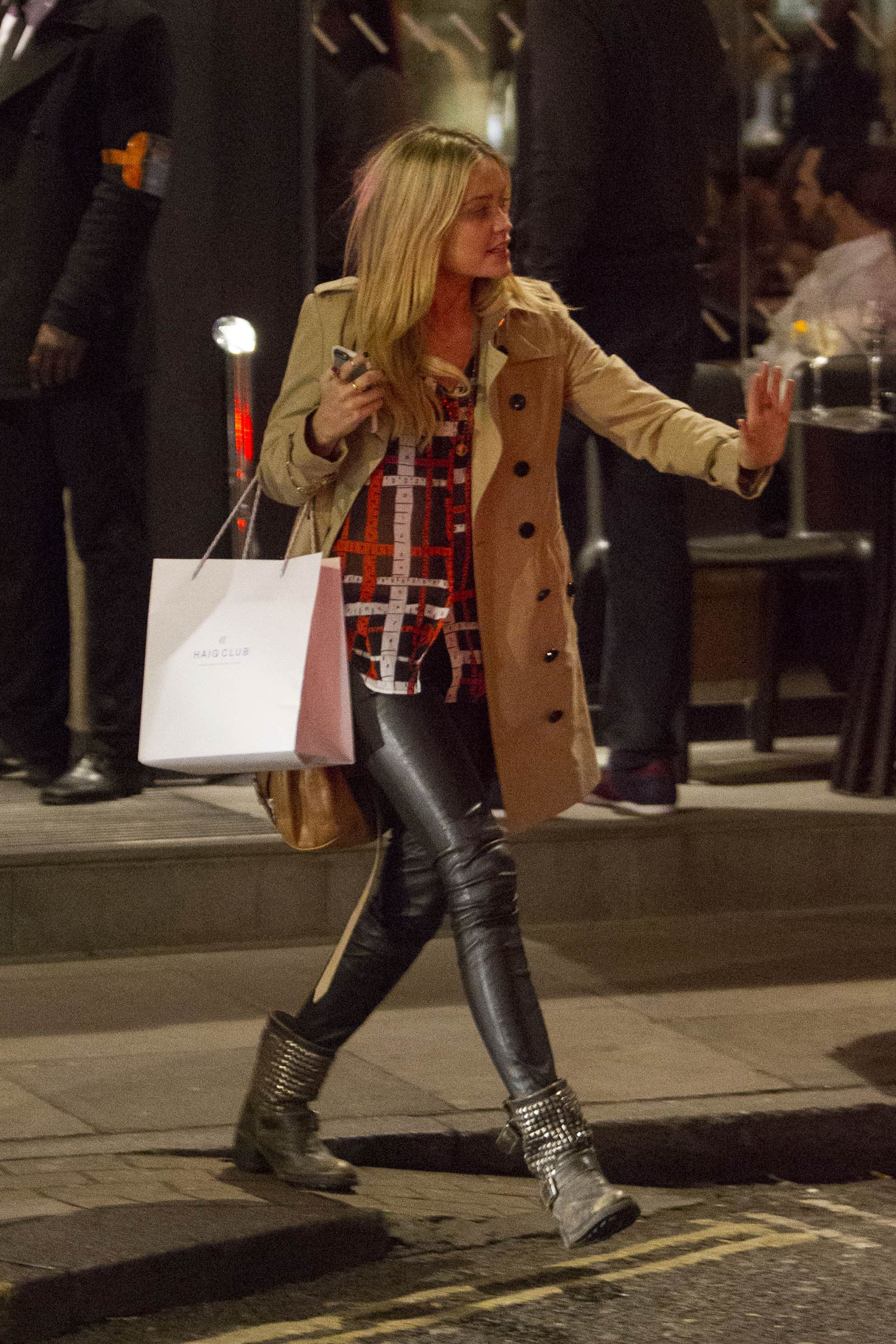 Laura Whitmore night out in London