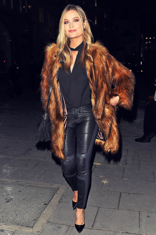 Laura Whitmore Seen Leaving Tape Nightclub Leather