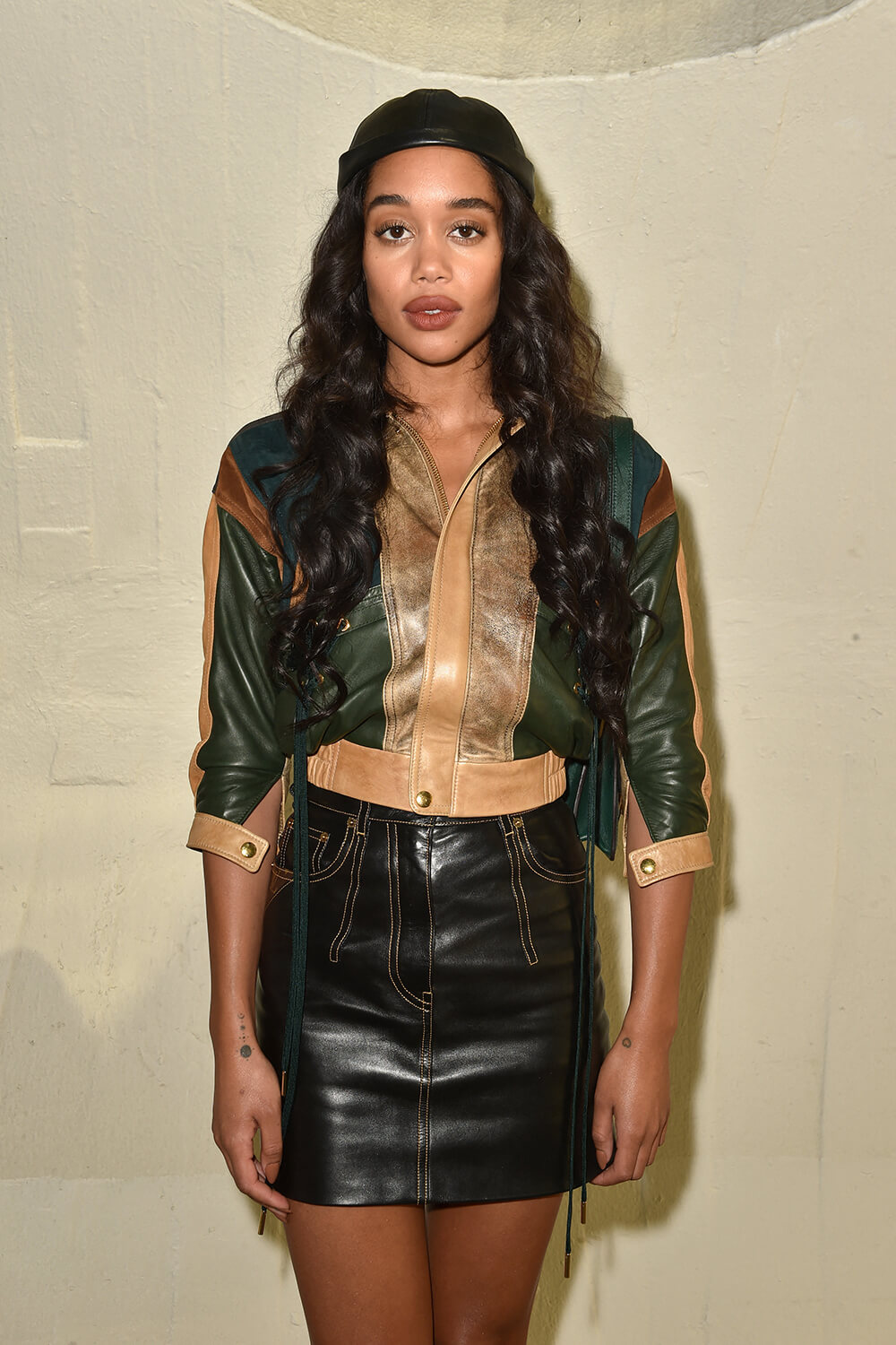 Laura Harrier attends Louis Vuitton Cruise 2020 Fashion Show