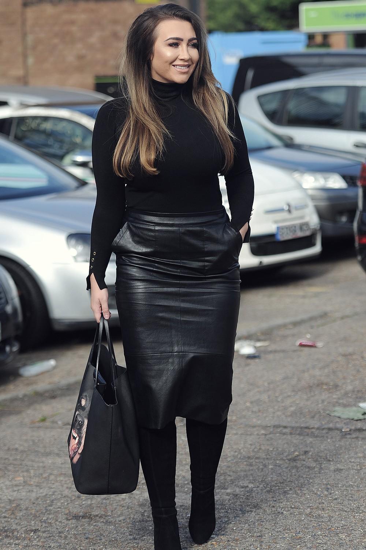 Lauren Goodger Films New Towie Scenes Leather Celebrities