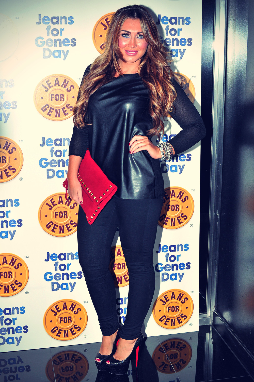 Lauren Goodger at Jeans for genes