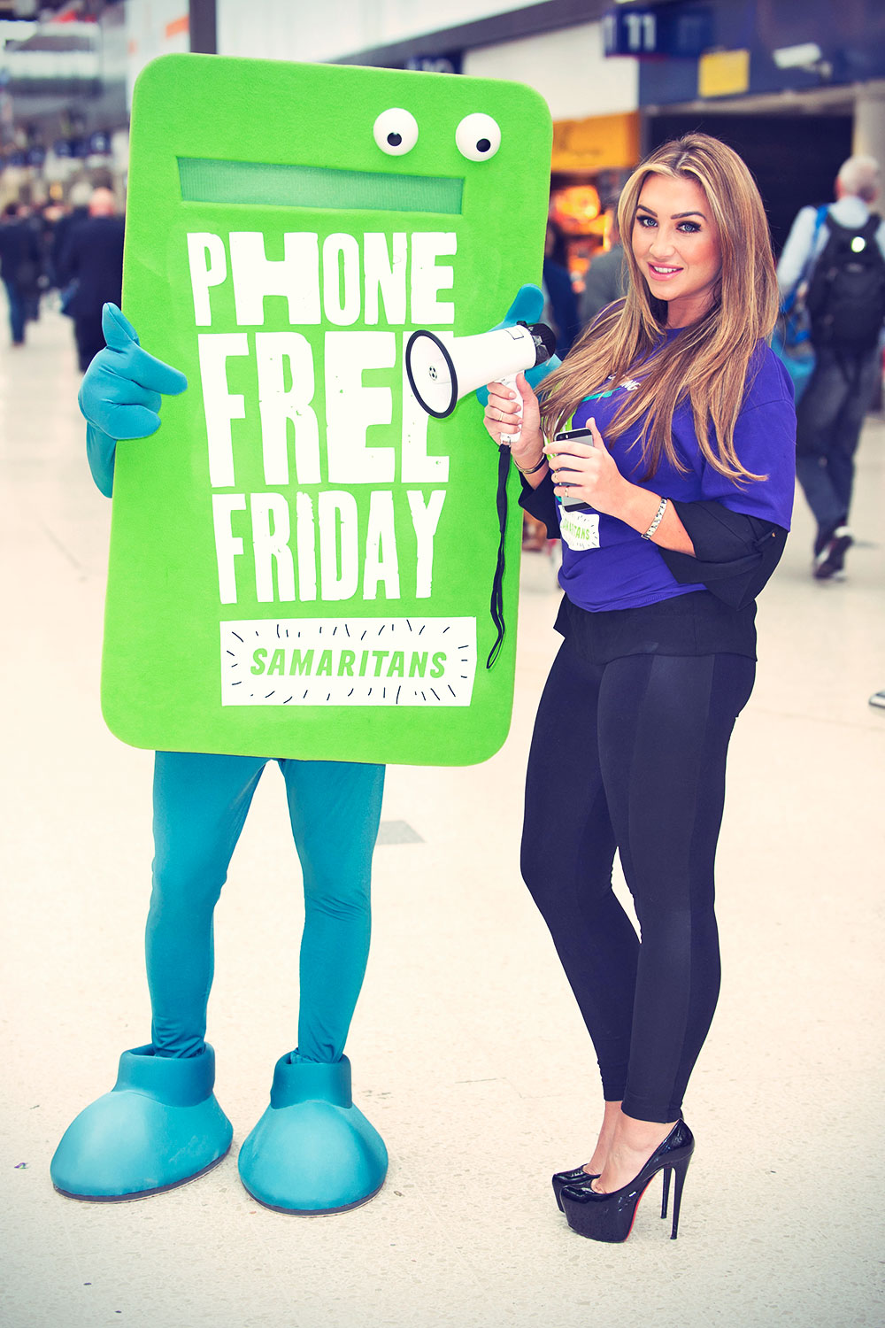Lauren Goodger launches Samaritans New Fundraising Day