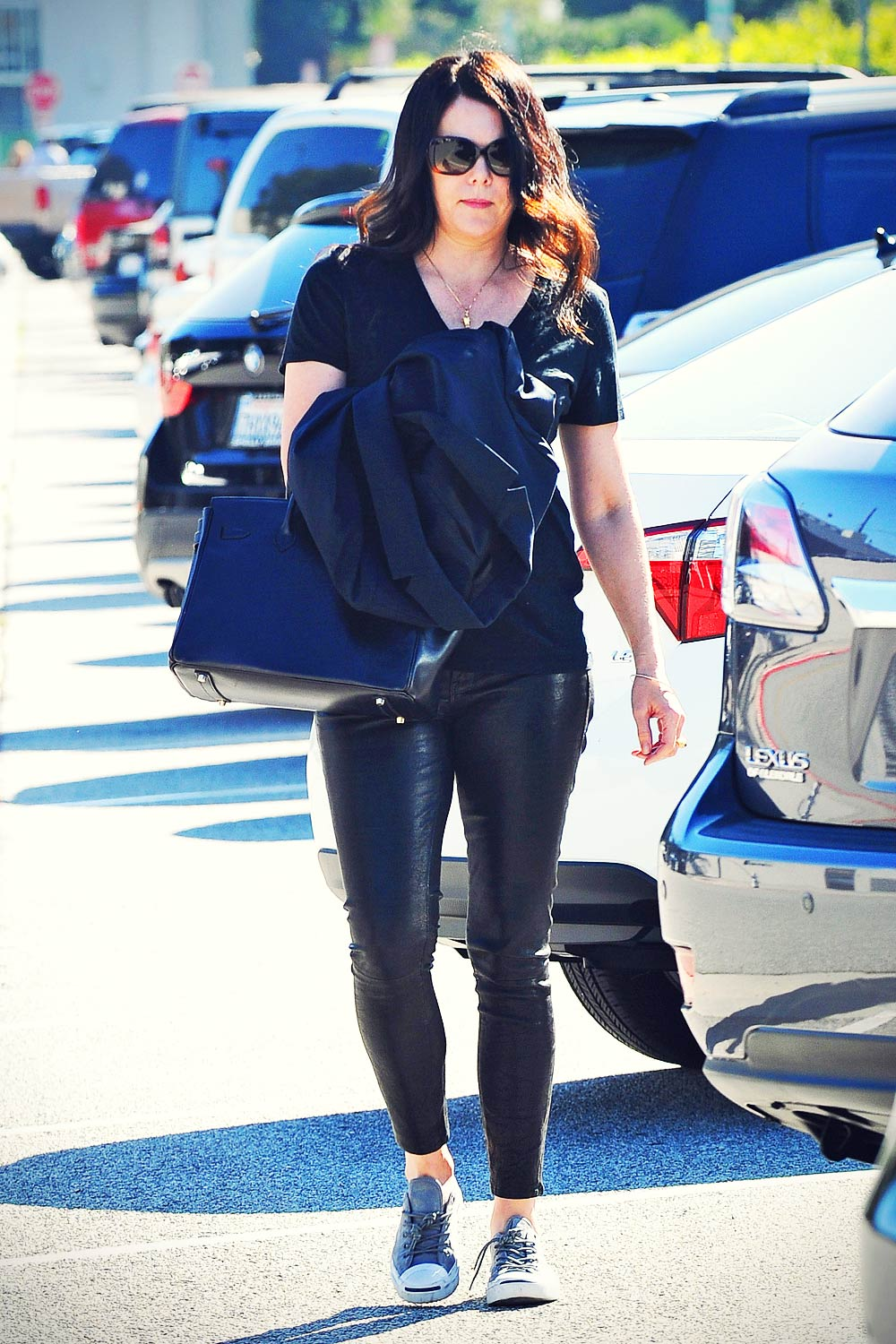 Lauren Graham Out And About In La Leather Celebrities
