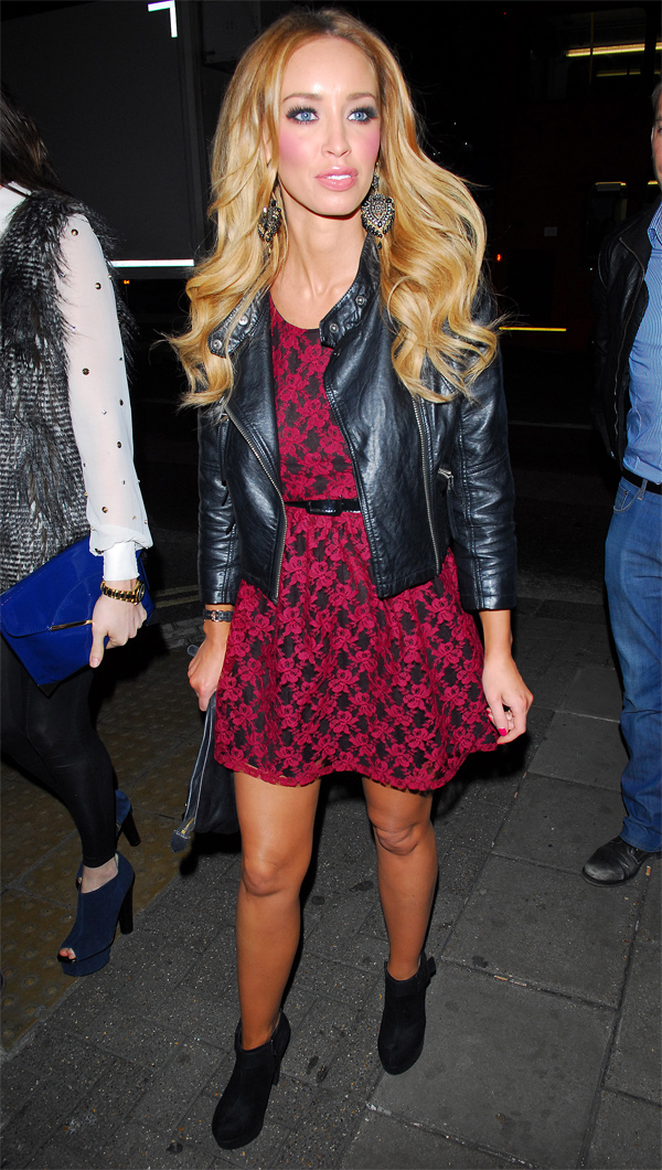 Lauren Pope arriving at the 55 club in London