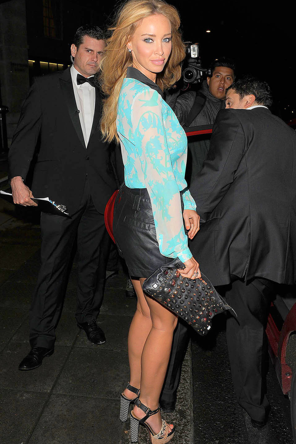 Lauren Pope leaving the launch party for website You Gossip