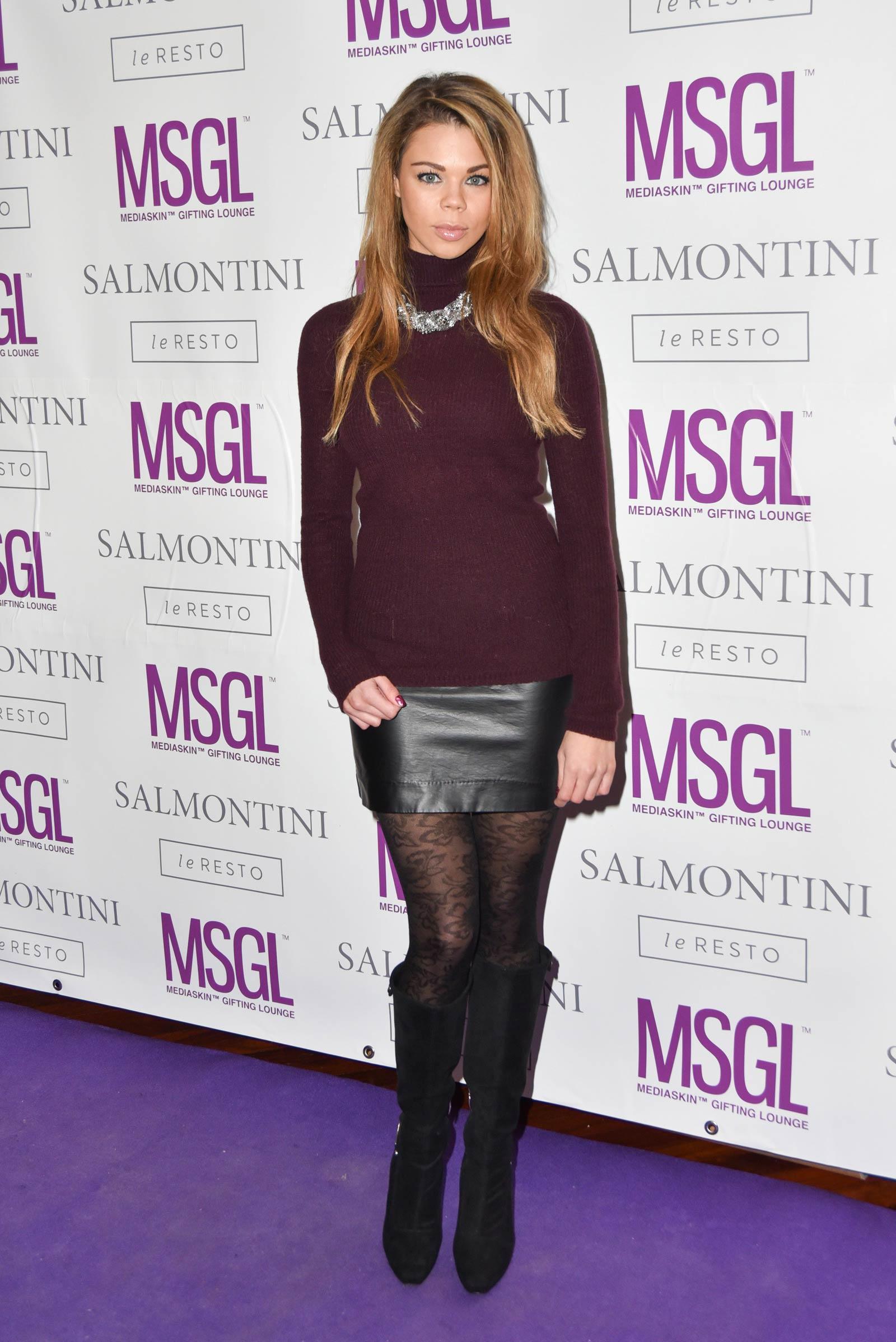 Lauren Riley attends MediaSkin Gifting Lounge