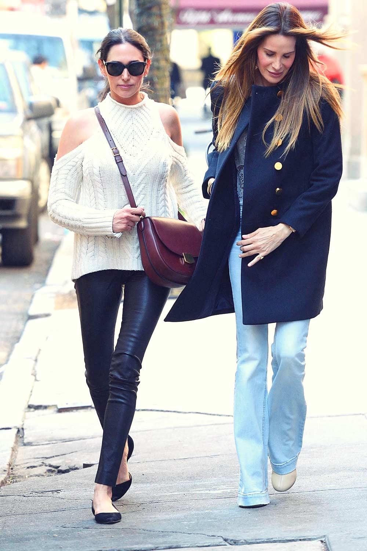 Lauren Silverman Leaving lunch on the Upper East Side