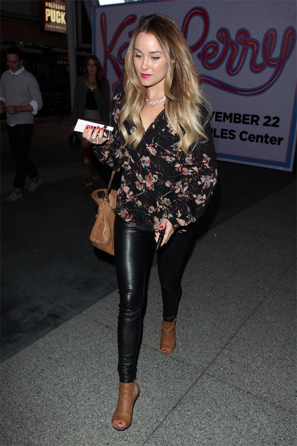 Lauren Conrad arriving to the Katy Perry convert in LA